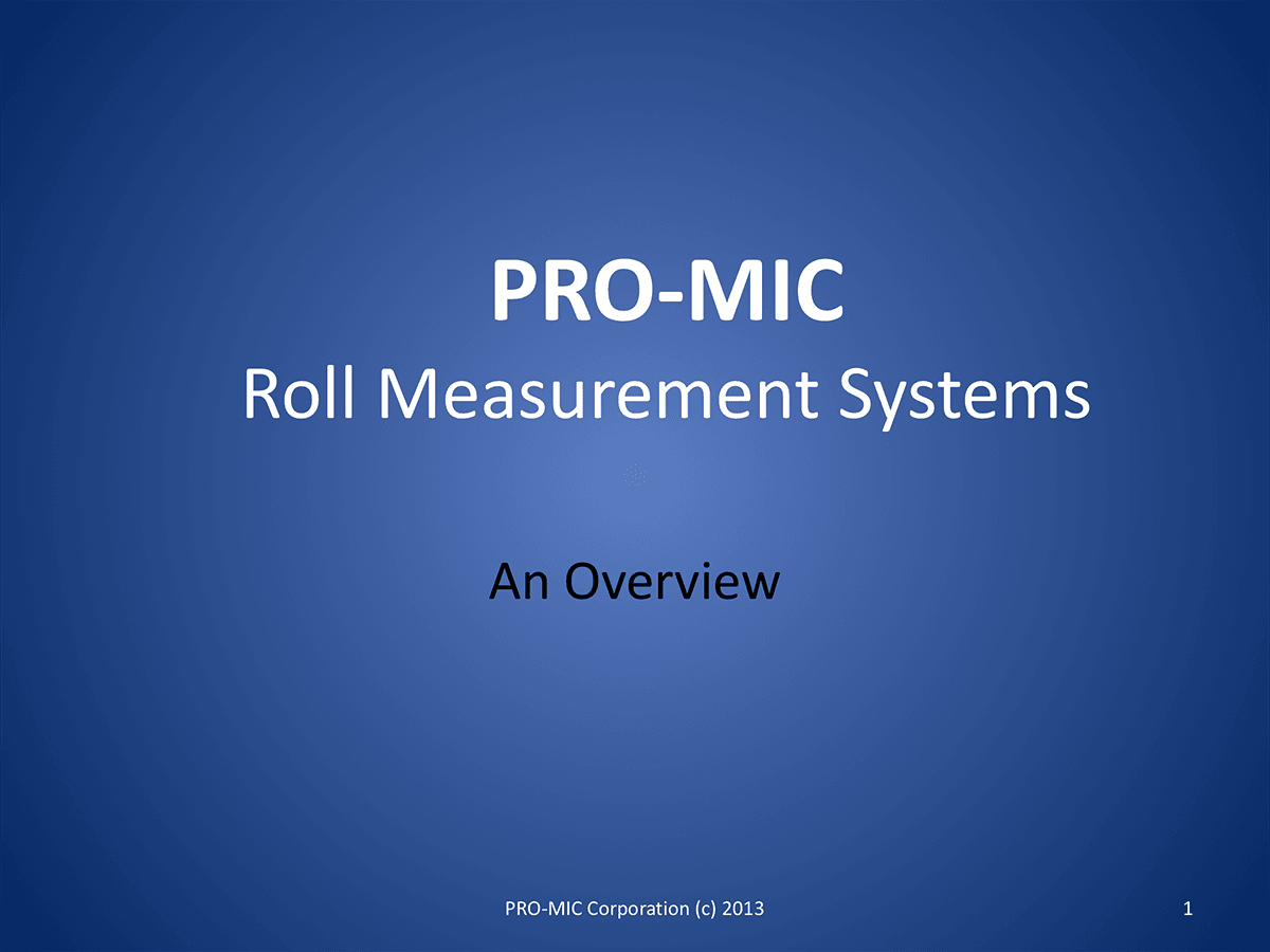 Measurement Systems Overview thumbnail